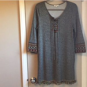 Entro Aztec Mini Dress With Side Pockets